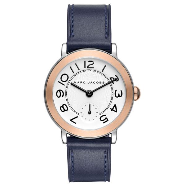 【送料無料】マークジェイコブス 時計 MARC JACOBS 腕時計 ユニセックス レディース MJ1602 時計 Riley 36 ライリー ホワイト×ネイビー×ローズゴールド【あす楽対応】【プレゼント】【ブランド】