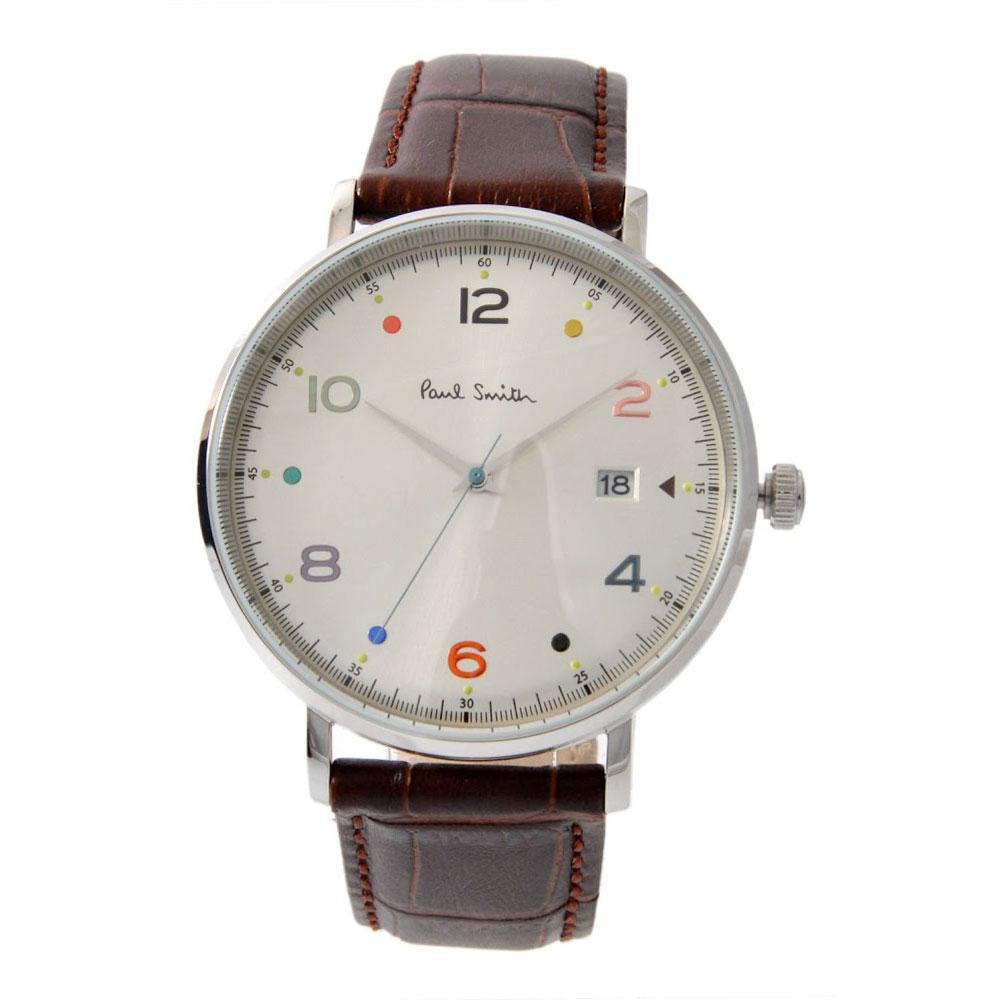 【送料無料】ポールスミス 時計 Paul Smith 腕時計 PS0060002 GAUGE ゲージ メンズ ウォッチ シルバー×ブラウン とけい【あす楽対応】【プレゼント】【ブランド】【セール】