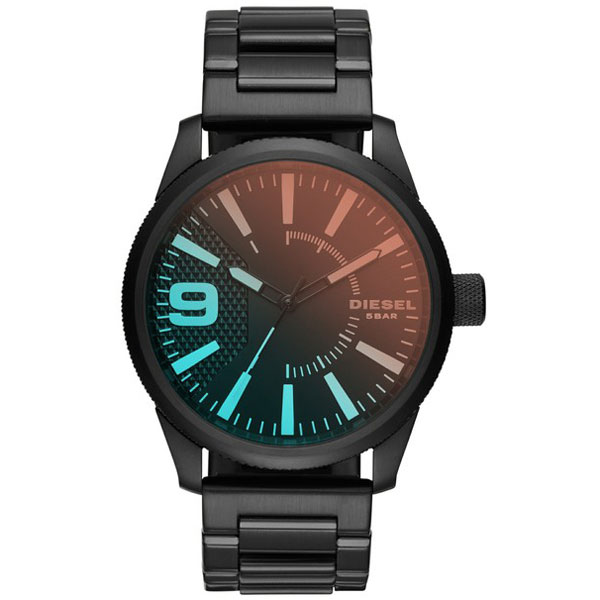 【送料無料】 ディーゼル 時計 DIESEL 腕時計 DZ1844 メンズ Rasp ラスプ オールブラック ミラーガラス とけい ウォッチ 【あす楽対応】【プレゼント】【ブランド】【ラッキーシール対応】
