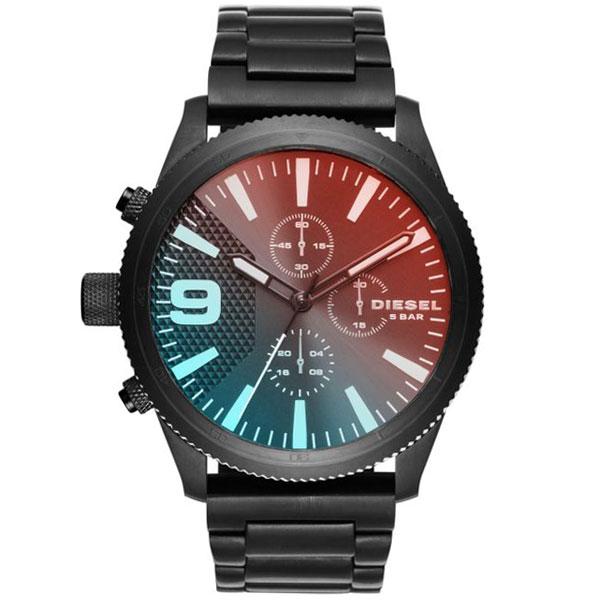 【送料無料】 ディーゼル 時計 DIESEL 腕時計 DZ4447 メンズ Rasp ラスプ クロノグラフ オールブラック ミラーガラス とけい ウォッチ 【あす楽対応】【プレゼント】【ブランド】