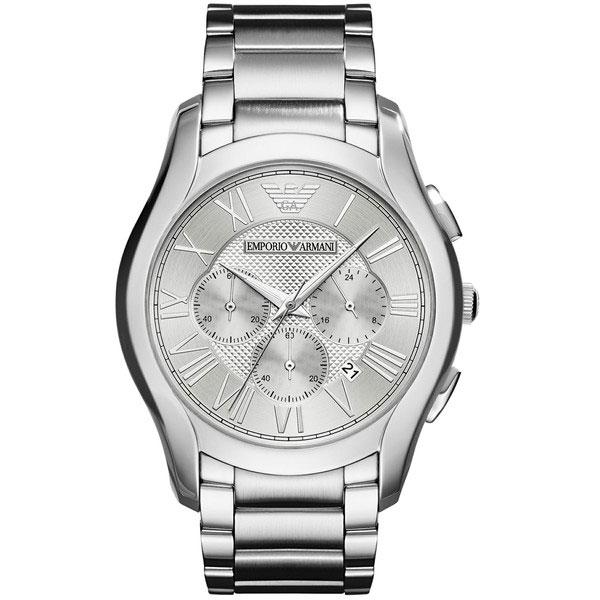 【送料無料】 EMPORIO ARMANI エンポリオアルマーニ メンズ 腕時計 AR11081 VALENTE バレンテ クロノグラフ シルバー×シルバー エンポリオ・アルマーニ エンポリ アルマーニ 時計 とけい 【プレゼント】