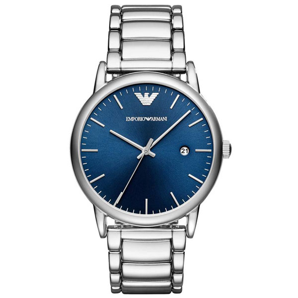 【送料無料】 EMPORIO ARMANI エンポリオアルマーニ メンズ 腕時計 AR11089 Luigi ルイージ ブルー×シルバー エンポリオ・アルマーニ エンポリ アルマーニ 時計 とけい【あす楽対応】【ブランド】【プレゼント】【セール】