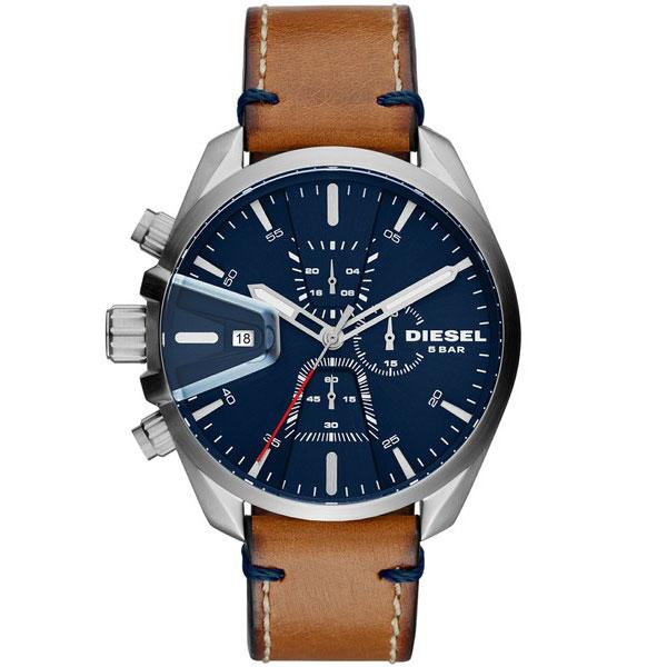 【送料無料】 ディーゼル 時計 DIESEL 腕時計 メンズ DZ4470 MS9 エムエスナイン クロノグラフ ネイビー×シルバー×ブラウン とけい ウォッチ 【あす楽対応】【プレゼント】【ブランド】【ラッキーシール対応】