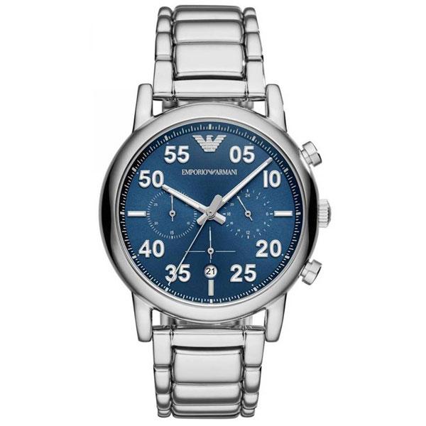 【送料無料】 EMPORIO ARMANI エンポリオアルマーニ メンズ 腕時計 AR11132 Luigi ルイージ クロノグラフ ブルー×シルバー エンポリオ・アルマーニ エンポリ アルマーニ 時計 とけい 【あす楽対応】【プレゼント】【ブランド】