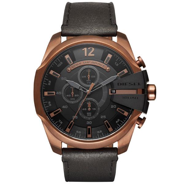 【送料無料】 ディーゼル 時計 DIESEL 腕時計 DZ4459 メンズ MEGA CHIEF メガチーフ クロノグラフ ブラック×ブロンズ とけい ウォッチ 【あす楽対応】【プレゼント】【ブランド】