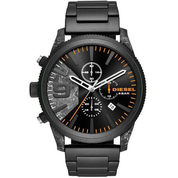 【送料無料】ディーゼル 時計 DIESEL 腕時計 DZ4469 メンズ RASP CHRONO ラスプ クロノグラフ ブラック×ダークグレー とけい ウォッチ 【あす楽対応】【プレゼント】【ブランド】【セール】