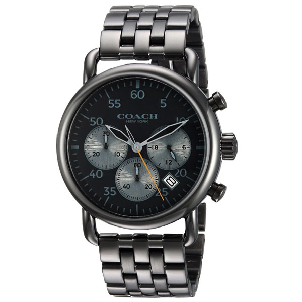 【送料無料】COACH コーチ メンズ 腕時計 時計 14602138 Delancey デランシー ブラック×ガンメタル こーち とけい 【あす楽対応】【プレゼント】【ブランド】【セール】