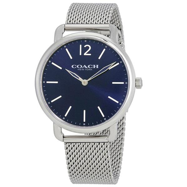 【送料無料】COACH コーチ メンズ 腕時計 時計 14602349 デランシー スリム ネイビー×シルバー メッシュベルト こーち とけい 【あす楽対応】【プレゼント】【ブランド】【セール】