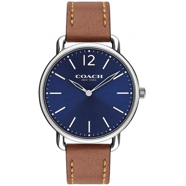 【送料無料】COACH コーチ メンズ 腕時計 時計 14602345 DELANCEY デランシー スリム ネイビー×ブラウン こーち とけい 【あす楽対応】【プレゼント】【ブランド】【セール】