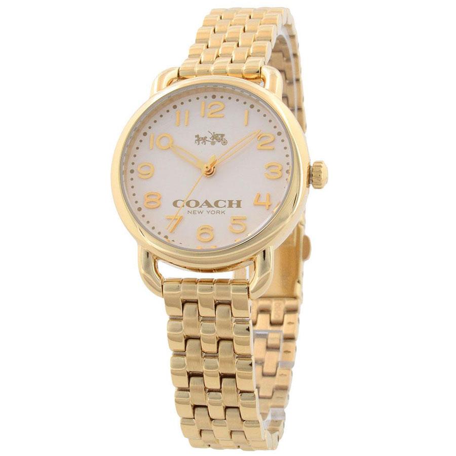 【送料無料】COACH コーチ レディース 腕時計 時計 14502241 DELANCEY デランシー アイボリーイエローゴールド こーち とけい 【あす楽対応】【プレゼント】【ブランド】【セール】