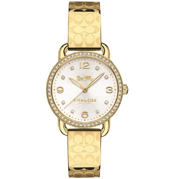 【送料無料】COACH コーチ レディース 腕時計 時計 14502766 DELANCEY デランシー シグネチャー シルバー×ゴールド こーち とけい 【あす楽対応】【プレゼント】【ブランド】【セール】
