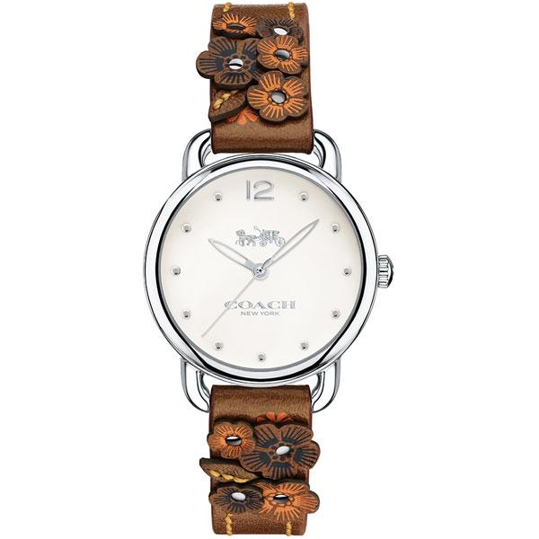 【送料無料】COACH コーチ レディース 腕時計 時計 14502761 DELANCEY デランシー 花柄 フラワーベルト オフホワイト×ブラウン こーち とけい 【あす楽対応】【プレゼント】【ブランド】【セール】