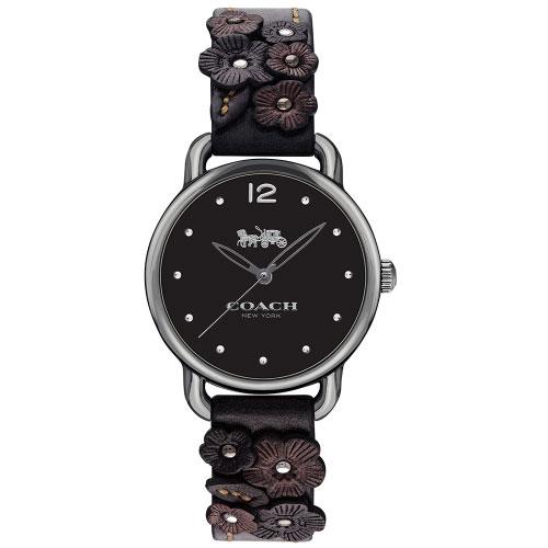 【送料無料】COACH コーチ レディース 腕時計 時計 14502816 DELANCEY デランシー 花柄 フラワーベルト ブラック こーち とけい 【あす楽対応】【プレゼント】【ブランド】【セール】