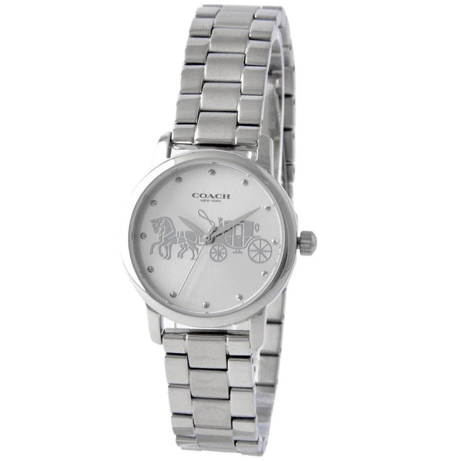 【送料無料】COACH コーチ レディース 腕時計 時計 14502975 GRAND グランド シルバー こーち とけい 【あす楽対応】【プレゼント】【ブランド】【セール】