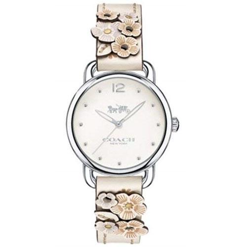 【送料無料】COACH コーチ レディース 腕時計 時計 14502760 DELANCEY デランシー 花柄 フラワーベルト オフホワイト×クリ-ム こーち とけい 【あす楽対応】【プレゼント】【ブランド】【セール】