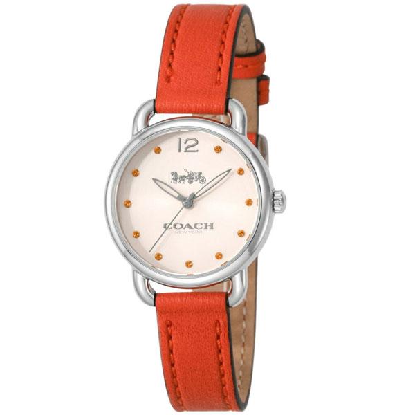 【送料無料】COACH コーチ レディース 腕時計 時計 14502907 DELANCY デランシー アイボリー×オレンジ こーち とけい 【あす楽対応】【プレゼント】【ブランド】【セール】