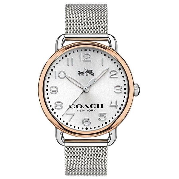 【送料無料】COACH コーチ レディース 腕時計 時計 14502266 DELANCEY デランシー メッシュベルト シルバー×ピンクゴールド こーち とけい 【あす楽対応】【プレゼント】【ブランド】【セール】