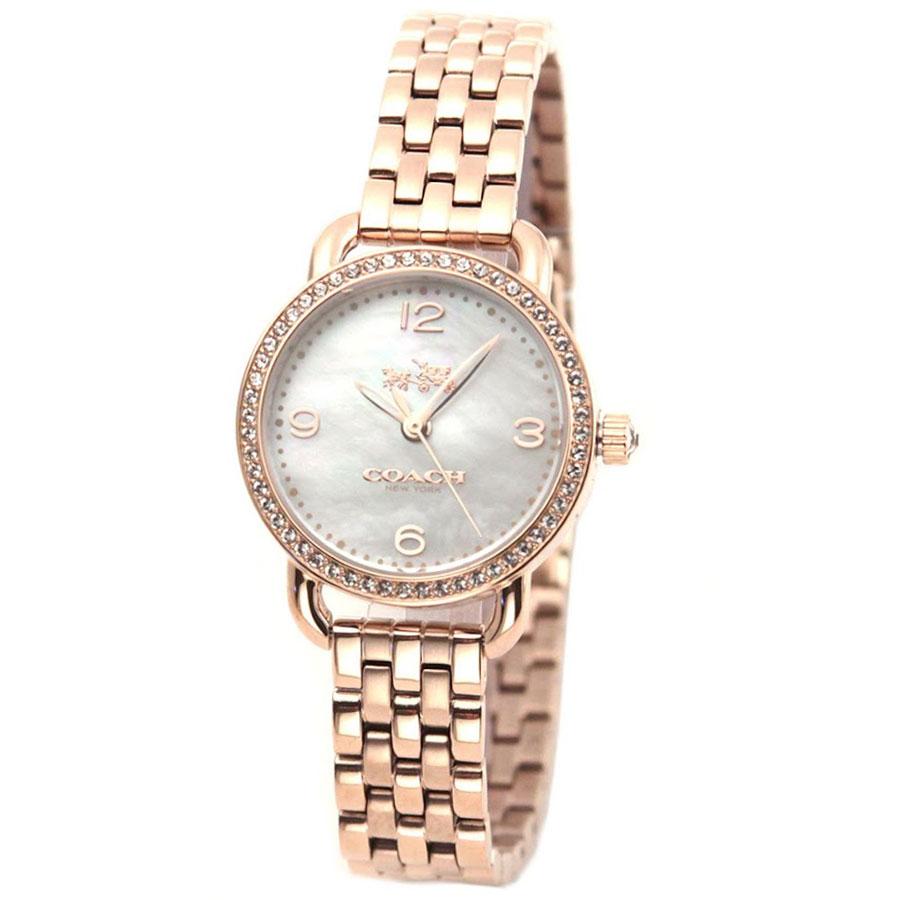 【送料無料】COACH コーチ レディース 腕時計 時計 14502479 DELANCEY デランシー ホワイトシェル×ピンクゴールド こーち とけい 【あす楽対応】【プレゼント】【ブランド】【セール】