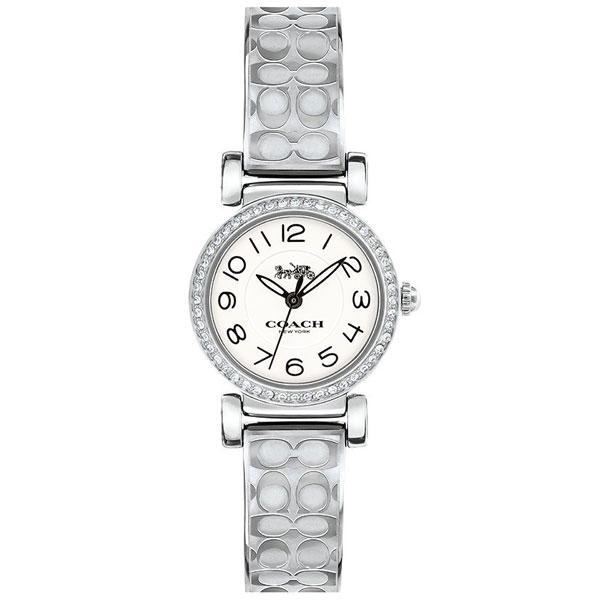 【送料無料】COACH コーチ レディース 腕時計 時計 14502870 MADISON マディソン ホワイト×シルバー シグネチャー こーち とけい【あす楽対応】【プレゼント】【ブランド】【ラッキーシール対応】【セール】