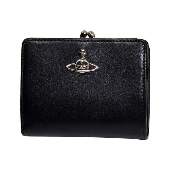 【送料無料】ヴィヴィアン 財布 がま口 二つ折り財布 小銭入れあり ヴィヴィアンウエストウッド Vivienne Westwood 51010020 MATILDA BLACK ビビアン ヴィヴィアン・ウエストウッド 【あす楽対応】【プレゼント】【ブランド】