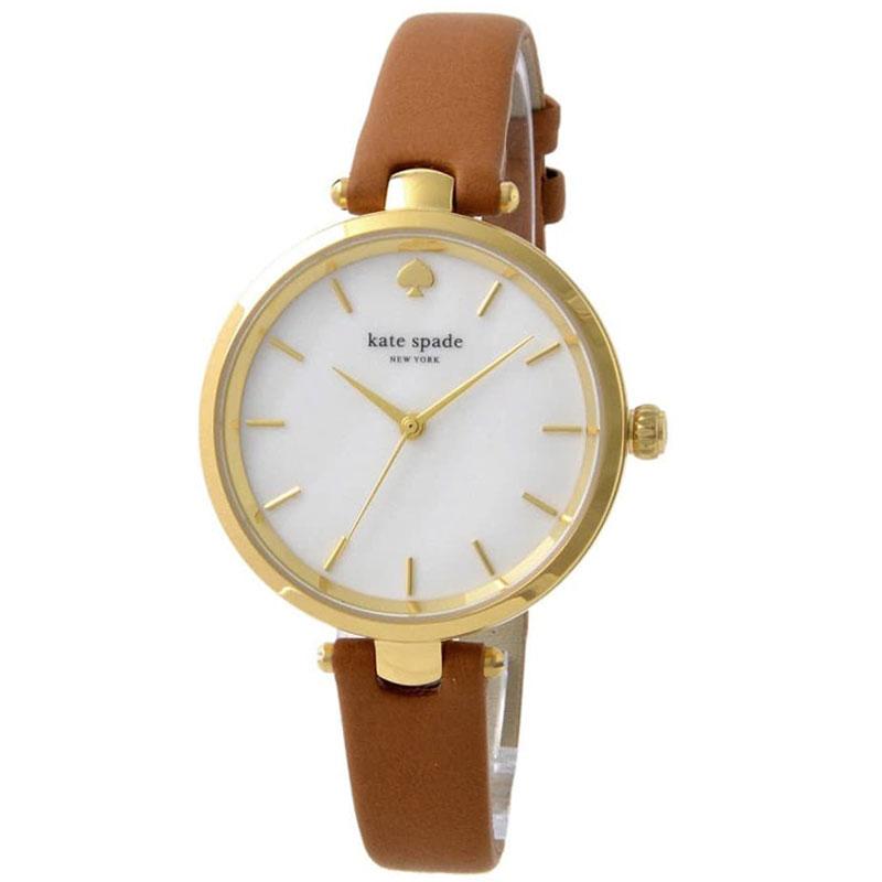 【送料無料】ケイトスペード 腕時計 レディース 時計 kate spade KSW1156 Holland ホランド 女性用 ホワイトシェル×ブラウン【あす楽対応】【プレゼント】【ブランド】【ラッキーシール対応】【セール】