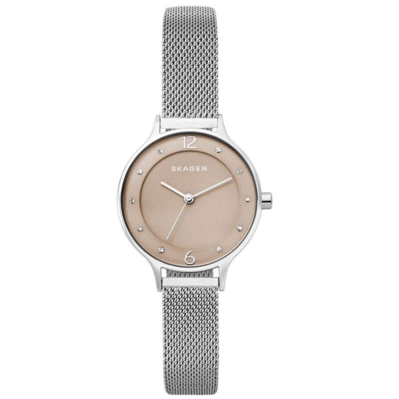 【送料無料】SKAGEN スカーゲン レディース 腕時計 SKW2649 ANITA アニタ 時計 女性用 ライトベージュ×シルバー とけい 【あす楽対応】【プレゼント】【ブランド】【ラッキーシール対応】【セール】