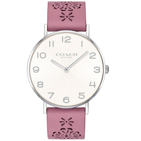 【送料無料】COACH コーチ レディース 腕時計 時計 14503030 Perry ペリー シルバー×ピンク レザーベルト 革ベルト こーち とけい 【あす楽対応】【プレゼント】【ブランド】【ラッキーシール対応】
