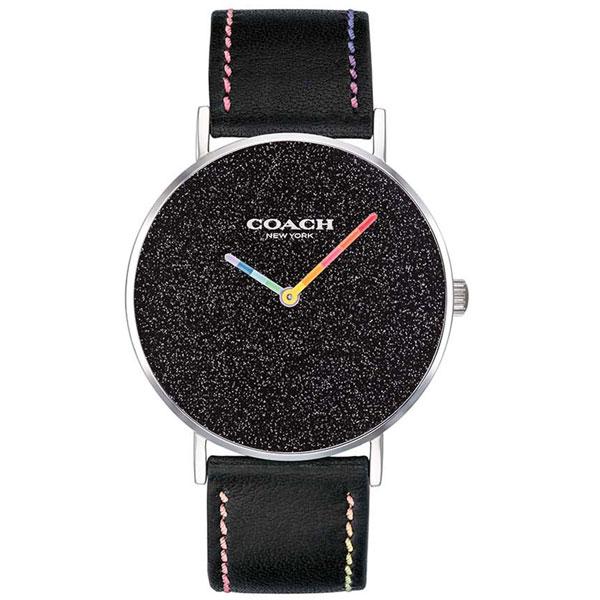 【送料無料】COACH コーチ レディース 腕時計 時計 14503033 Perry ペリー ブラック×ブラック×マルチカラー レザーベルト 革ベルト こーち とけい 【あす楽対応】【プレゼント】【ブランド】【ラッキーシール対応】