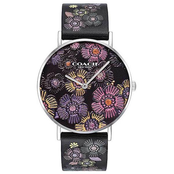 【送料無料】COACH コーチ レディース 腕時計 時計 14503046 Perry ペリー 花柄 ブラック×マルチカラー レザーベルト 革ベルト こーち とけい 【あす楽対応】【プレゼント】【ブランド】【ラッキーシール対応】