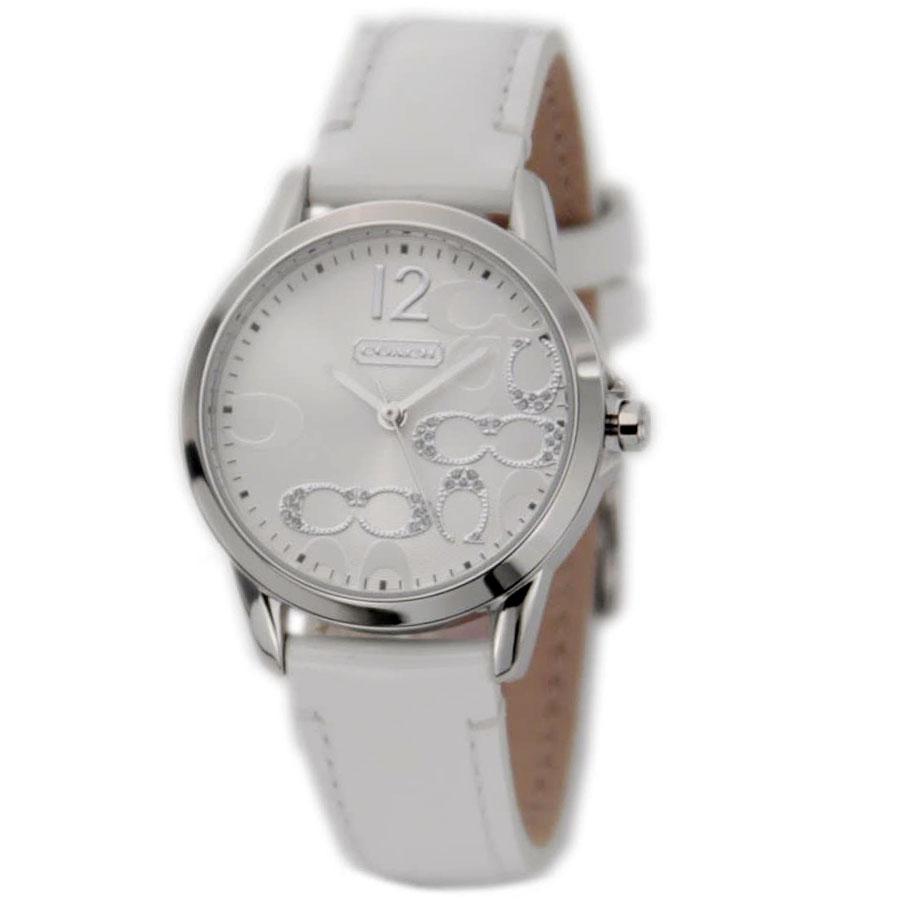 【送料無料】COACH コーチ レディース 腕時計 時計 14501616 NEW CLASSIC SIGNATURE ニュークラシックシグネチャー シルバー×ホワイト こーち 【あす楽対応】【プレゼント】【ブランド】【ラッキーシール対応】【セール】