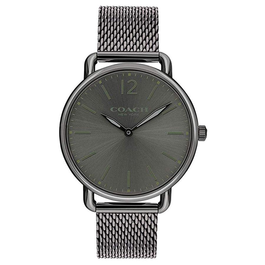 【送料無料】COACH コーチ メンズ 腕時計 時計 14602350 デランシー スリム ダークグレー メッシュベルト こーち とけい 【あす楽対応】【プレゼント】【ブランド】【セール】