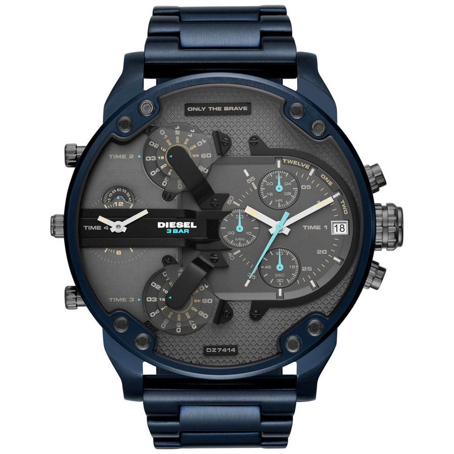 【送料無料】ディーゼル 時計 DIESEL 腕時計 DZ7414 メンズ Mr Daddy ミスターダディ グレー×Dブルー クロノグラフ とけい ウォッチ 【あす楽対応】【プレゼント】【ブランド】【セール】