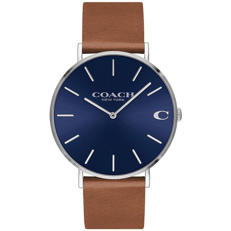 【送料無料】COACH コーチ メンズ 腕時計 時計 14602151 Charles チャールズ ブルー×シルバー×ブラウン こーち 【あす楽対応】【プレゼント】【ブランド】【ラッキーシール対応】【セール】
