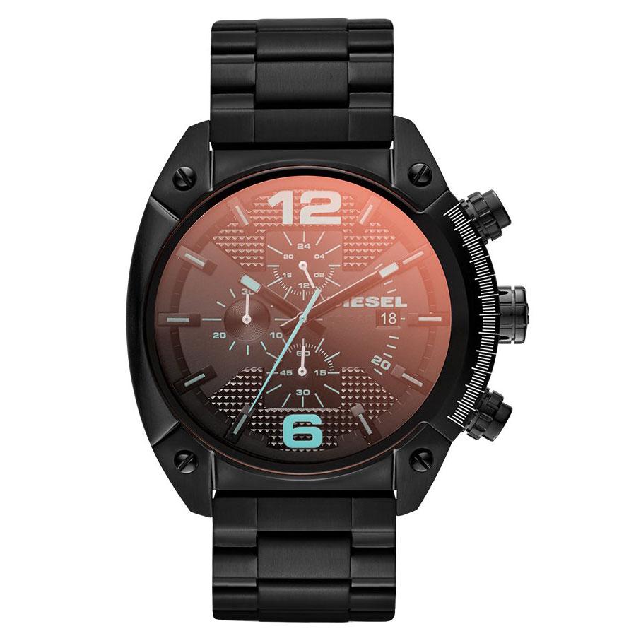 【送料無料】ディーゼル 時計 DIESEL 腕時計 DZ4316 メンズ Overflow オーバーフロー クロノグラフ ブラック ミラーガラス とけい ウォッチ 【あす楽対応】【プレゼント】【ブランド】【ラッキーシール対応】
