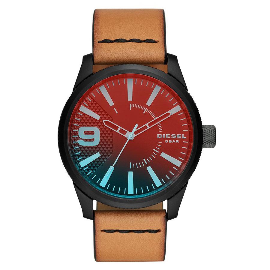【送料無料】ディーゼル 時計 DIESEL 腕時計 DZ1860 メンズ Rasp ラスプ ブラック×ライトブラウン ミラーガラス とけい ウォッチ 【あす楽対応】【プレゼント】【ブランド】【ラッキーシール対応】
