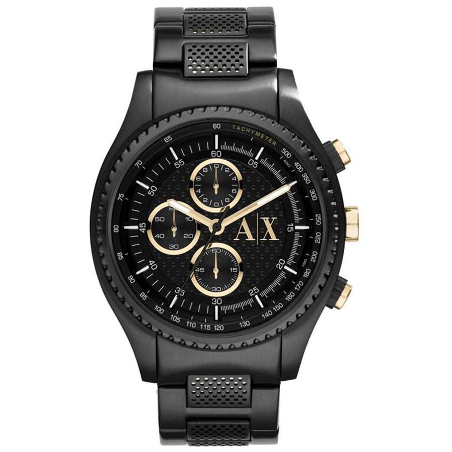 【送料無料】アルマーニ エクスチェンジ AX 時計 ARMANI EXCHANGE メンズ 腕時計 AX1604 アルマーニエクスチェンジ クロノグラフ ブラック×ゴールド 【あす楽対応】【プレゼント】【ブランド】【ラッキーシール対応】