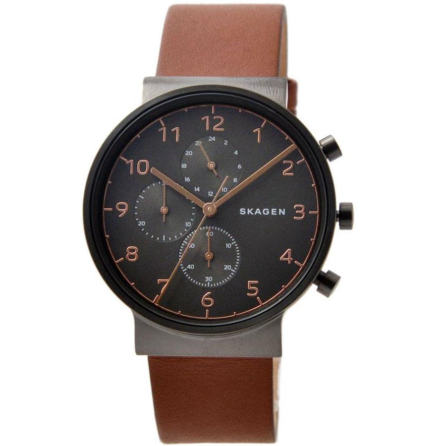 【送料無料】SKAGEN スカーゲン メンズ 腕時計 SKW6418 ANCHER アンカー クロノグラフ 時計 男性用 グレーシルバー×ブラウン【あす楽対応】【プレゼント】【ブランド】【ラッキーシール対応】【セール】