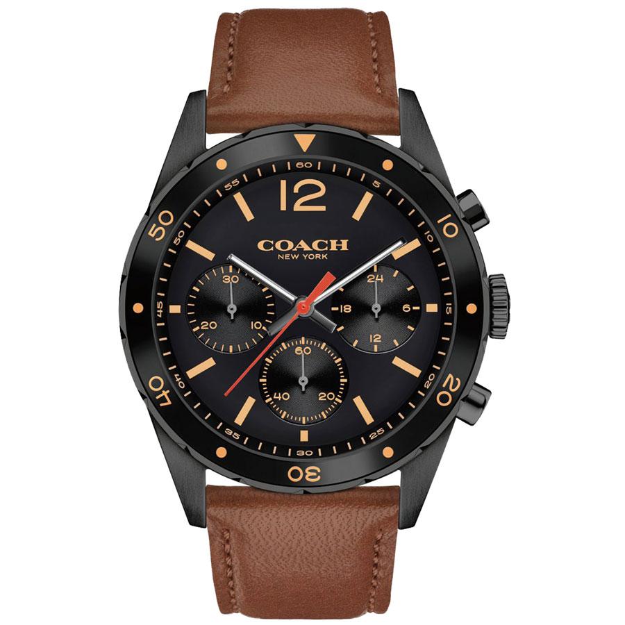 【送料無料】COACH コーチ メンズ 腕時計 時計 14602070 サリバン スポーツ クロノグラフ ブラック×ブラウン こーち【あす楽対応】【プレゼント】【ブランド】【ラッキーシール対応】【セール】