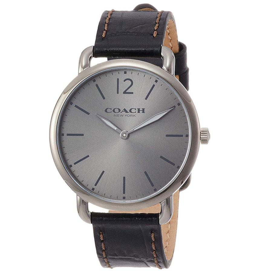 【超目玉】【送料無料】COACH コーチ メンズ 腕時計 時計 14602143 Delancey Slim デランシースリム グレー×ダークブラウン こーち【あす楽対応】【プレゼント】【ブランド】【ラッキーシール対応】