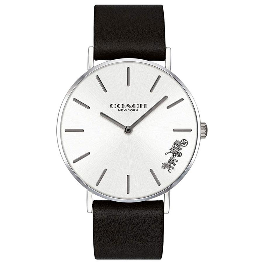 【送料無料】COACH コーチ レディース 腕時計 時計 14503115 Perry ペリー シルバー×ブラック レザーベルト 革ベルト こーち とけい【あす楽対応】【プレゼント】【ブランド】