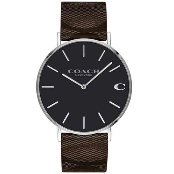【送料無料】COACH コーチ メンズ 腕時計 時計 14602156 Charles チャールズ ブラック×ブラウン シグネチャー こーち【あす楽対応】【プレゼント】【ブランド】【ラッキーシール対応】【セール】