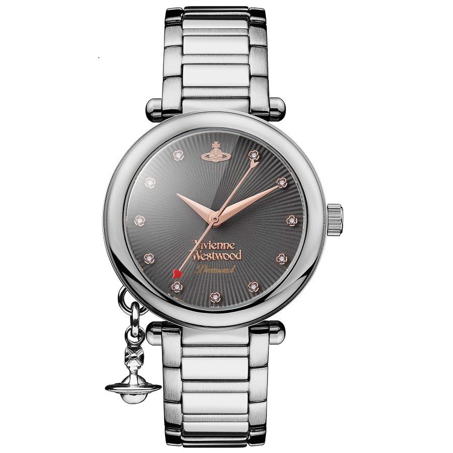 【送料無料】Vivienne Westwood ヴィヴィアン ウエストウッド レディース 腕時計 時計 ビビアン VV006GNSL ガンメタル×ピンクゴールド×シルバー ORB DIAMOND オーブダイヤモンド ヴィヴィアン・ウエストウッド 【あす楽対応】【ブランド】