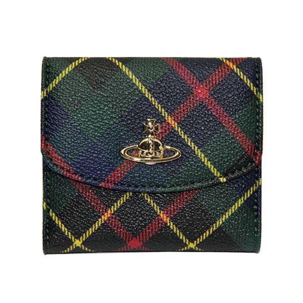 【送料無料】Vivienne Westwood ヴィヴィアンウエストウッド 二つ折り財布 小銭入れあり 財布 さいふ ビビアン 51150003 DERBY HUNTING TARTAN ヴィヴィアン 【あす楽対応】【プレゼント】【ブランド】