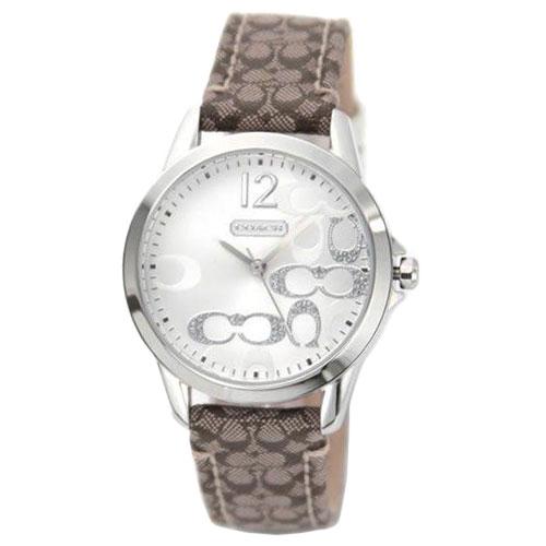 【送料無料】COACH コーチ レディース 腕時計 時計 14501620 ニュークラシックシグネチャー シルバー×ホワイト×ベージュ こーち 【あす楽対応】【プレゼント】【ブランド】【ラッキーシール対応】【セール】