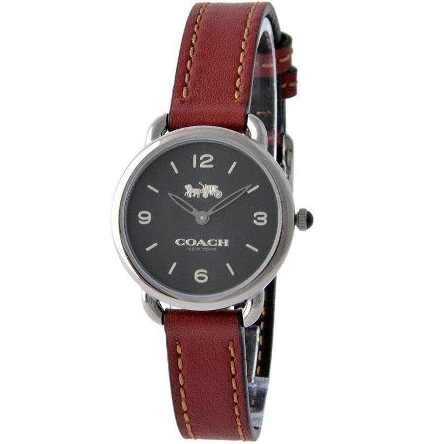【送料無料】COACH コーチ レディース 腕時計 時計 14502792 DELANCEY デランシー ブラック×ボルドー レザー 本革 革 こーち 【あす楽対応】【プレゼント】【ブランド】【ラッキーシール対応】【セール】