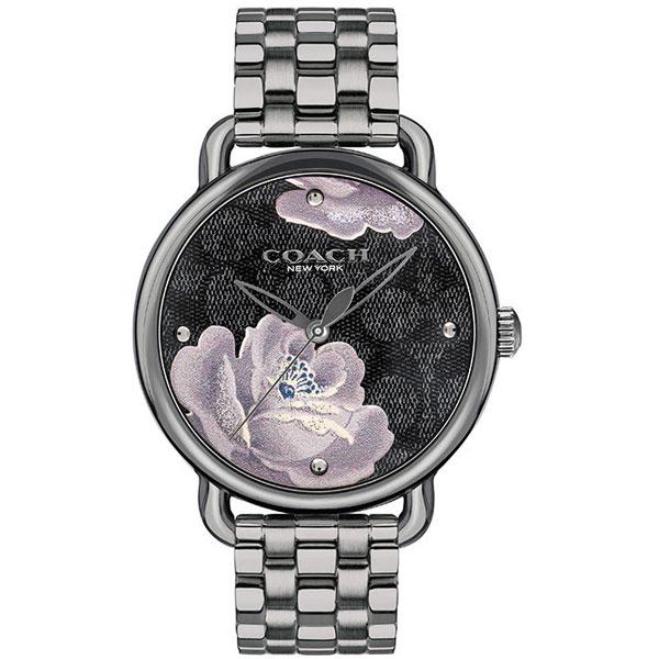 【送料無料】COACH コーチ レディース 腕時計 時計 14503165 Delancey デランシー ガンメタル×ブラック 花柄 フラワー こーち【あす楽対応】【プレゼント】【ブランド】【ラッキーシール対応】【セール】