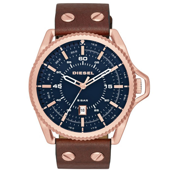 【送料無料】ディーゼル 時計 DIESEL 腕時計 DZ1746 メンズ ROLLCAGE ロールケージ ネイビー×ブラウン とけい ウォッチ 【あす楽対応】【プレゼント】【ブランド】