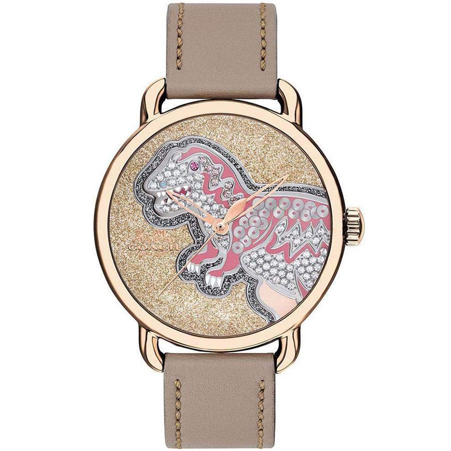 【送料無料】COACH コーチ レディース 腕時計 時計 14503162 DELANCEY デランシー 恐竜 ゴールド×ピンクゴールド×ベージュ こーち 【あす楽対応】【プレゼント】【ブランド】【ラッキーシール対応】【セール】