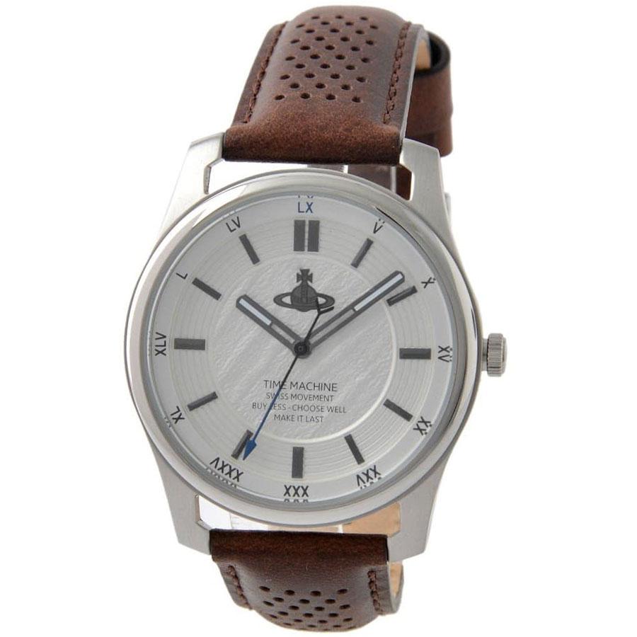 【送料無料】Vivienne Westwood ヴィヴィアン ウエストウッド メンズ 腕時計 時計 ビビアン VV185SLBR HOLLBORN ホルボーン ホワイトシルバー×ブラウン ヴィヴィアン・ウエストウッド【あす楽対応】【プレゼント】【ブランド】【セール】