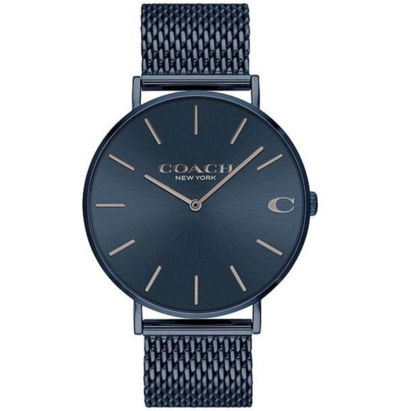 【送料無料】COACH コーチ メンズ 腕時計 時計 14602146 Charles チャールズ ネイビーブルー メッシュベルト こーち 【あす楽対応】【プレゼント】【ブランド】【ラッキーシール対応】【セール】